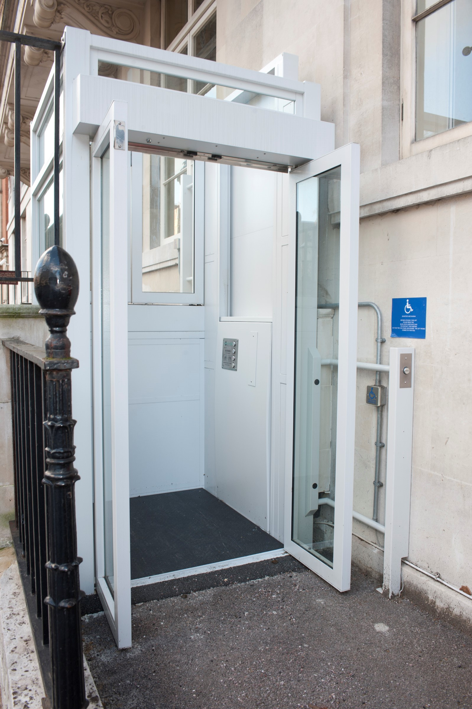 Nuffield lift entrance