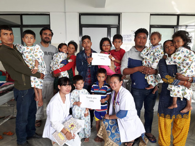 Post op patients parents and nurses