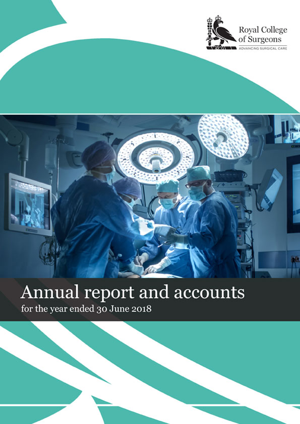 Royal College of Surgeons Annual Report 2017 - 2018 cover