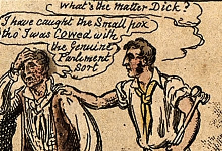 detail from The Cowpox Tragedy by George Cruikshank