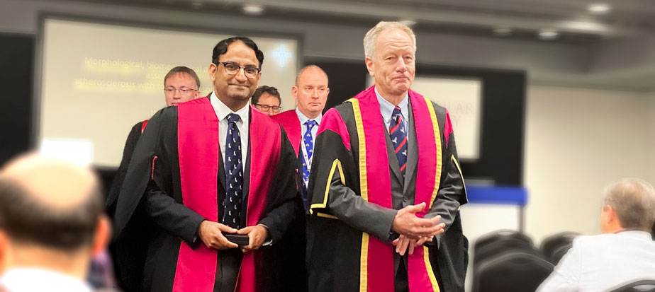 Council procession with Dr Sadat and vice president of Royal College of Surgeons of England