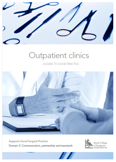 Front cover of the Outpatients Clinics guide