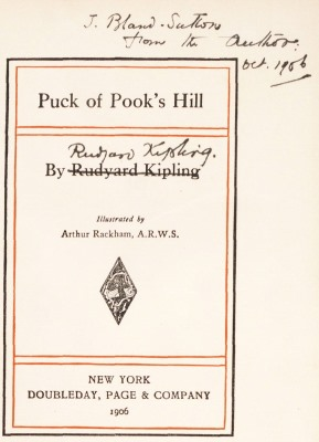 Puck of Pook's Hill, signed