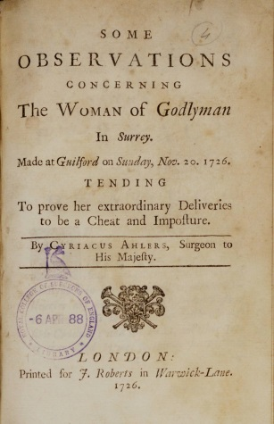 Mary Toft 2: The Woman of Godyman