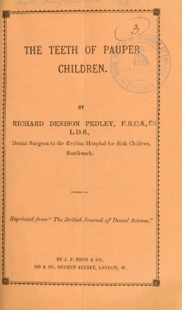 Pedley 2: cover of The Teeth of Pauper Children