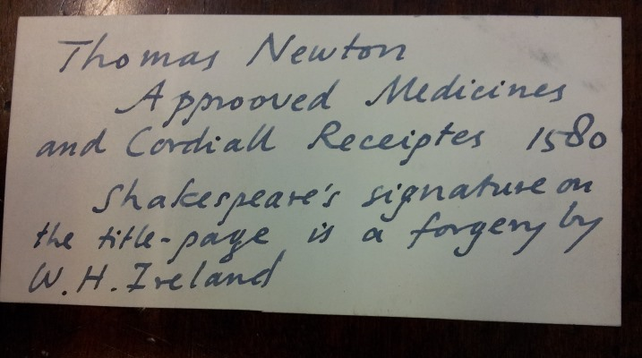 Approoved medicines - William Le Fanu note