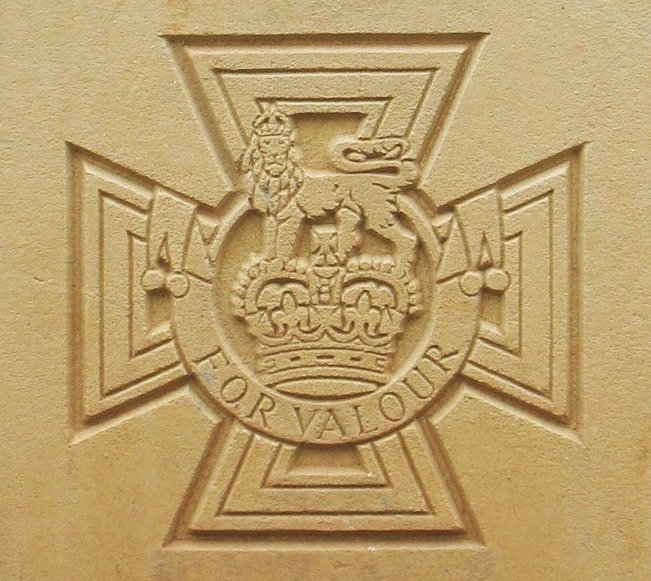 Image of Victoria Cross Medal as appears on CWGC gravestones