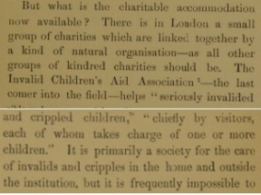 Eleanor Davies-Colley & the Invalid Children's Aid Association 3: Description of Charity