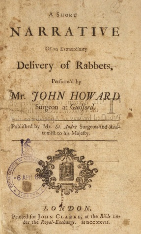 Mary Toft 3: Delivery of Rabbets