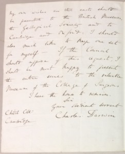 Down House: Darwin letter 1, 2nd page