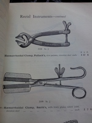 Surgical instrument catalogue - rectal instruments