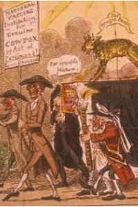George Cruikshank, The Cowpox Tragedy, 1812. A cartoon satirising the practice of vaccination