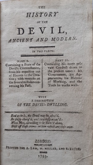History of the Devil 1: title page