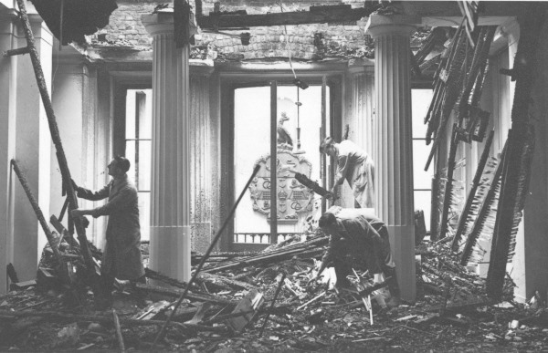 College bomb damage