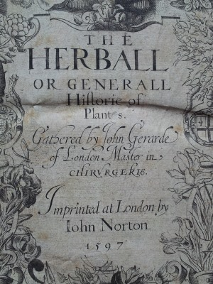Gerard's Herball - Title Page detail
