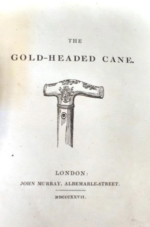 The Gold-Headed Cane 1