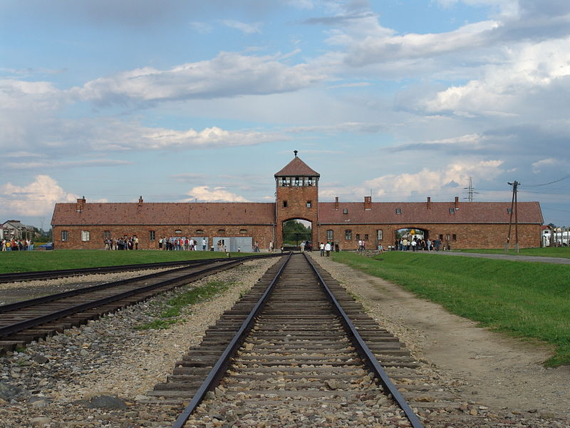Birkenau Gate; Wikipedia Commons