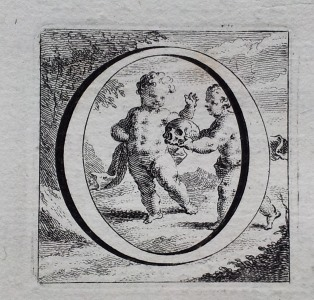 Cheselden osteographia - illustrated initial