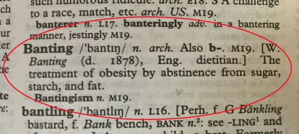 Banting 1: dictionary