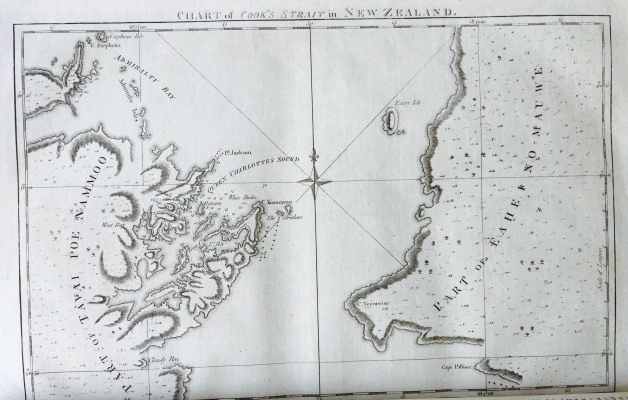 Chart of Cook's Strait in New Zealand