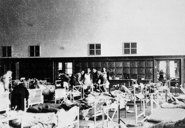 Holocaust Memorial Day 2021 3: Medical students at Belsen in converted hospital ward