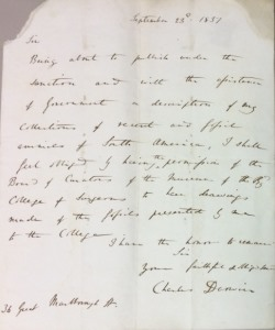 Down House: Darwin letter 2