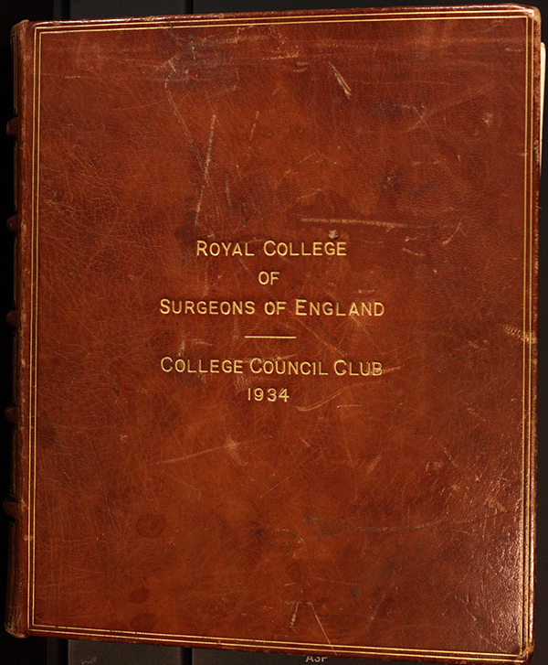 The front cover of the RCS College Council Club Photograph Album 1950-1966