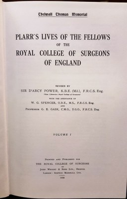 Plarr's Lives of the Fellows title page
