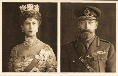 Postcard: Queen Mary & King George V