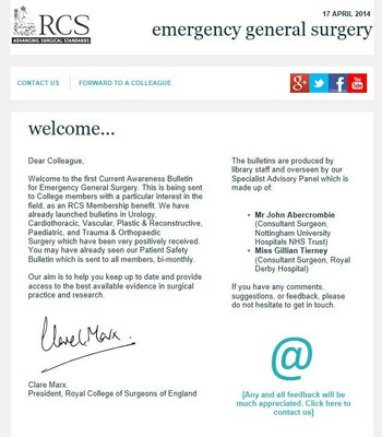 Emergency General Surgery Bulletin