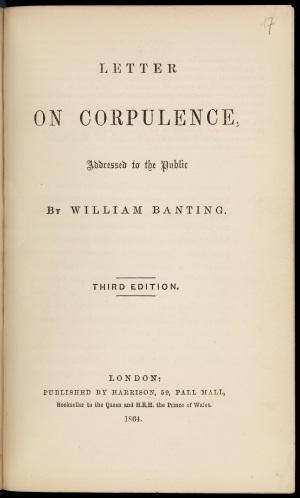 Banting 3: Letter on Corpulence